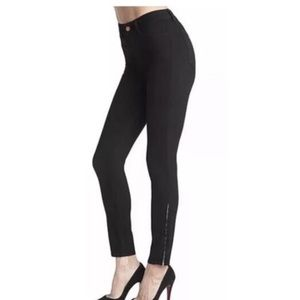 J Brand | Black skinny stretch zipper leg